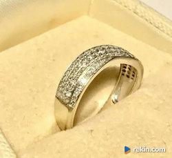 Złoty PIERŚCIONEK 14K BRYLANTY piękny 0.4ct BIAŁE złoto