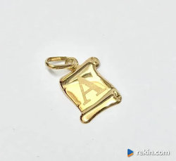 Złoty WISIOREK zawieszka 14K litera A literka A