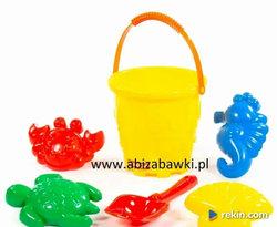 Zestaw do piasku ZWIERZĘTA MORSKIE 51844 żółty