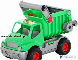 AUTO WYWROTKA CIĘŻARÓWKA Z RĄCZKĄ naczepa ziel 575