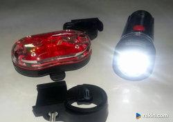 OSWIETLENIE rowerowe lampka rowerowa ZESTAW!