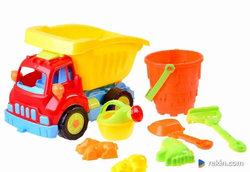 Auto Duża wywrotka + zabawki do piasku