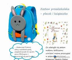 Szaraczek- plecak i książeczka dla przedszkolaka