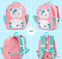 Plecak przedszkolaka z nosidełkiem na pluszaka - jednorożec