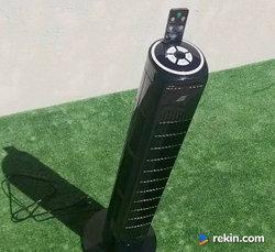 Wentylator typ wieża z pilotem kolor czarny moc 45 W