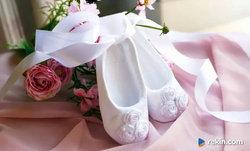 Nowe buciki - baletki na Chrzest dla dziewczynki - PROMOCJA-