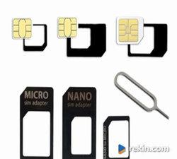 Adapter SIM 4w1 * Adapter MicroSim NanoSIm