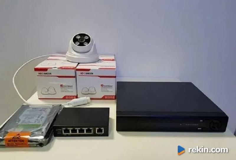 Monitoring Zestaw 4 kamer sieciowych IP 4MPX IR do 50m POE