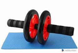 Podwójne koło do ćwiczeń Fitness Dual AB Wheel