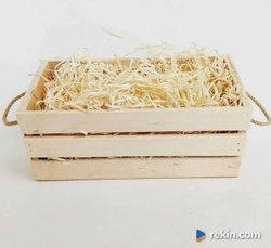 SKRZYNIA drewniana SKRZYNKA dekoracyjna pudełko na wino