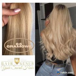 włosy naturalne pasma do zgrzewarki 0,5 gramowe -piaskowy blond light