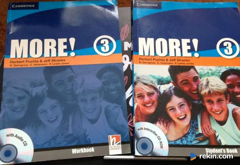 More! 3 student`s book + workbook + 2 płyty CD