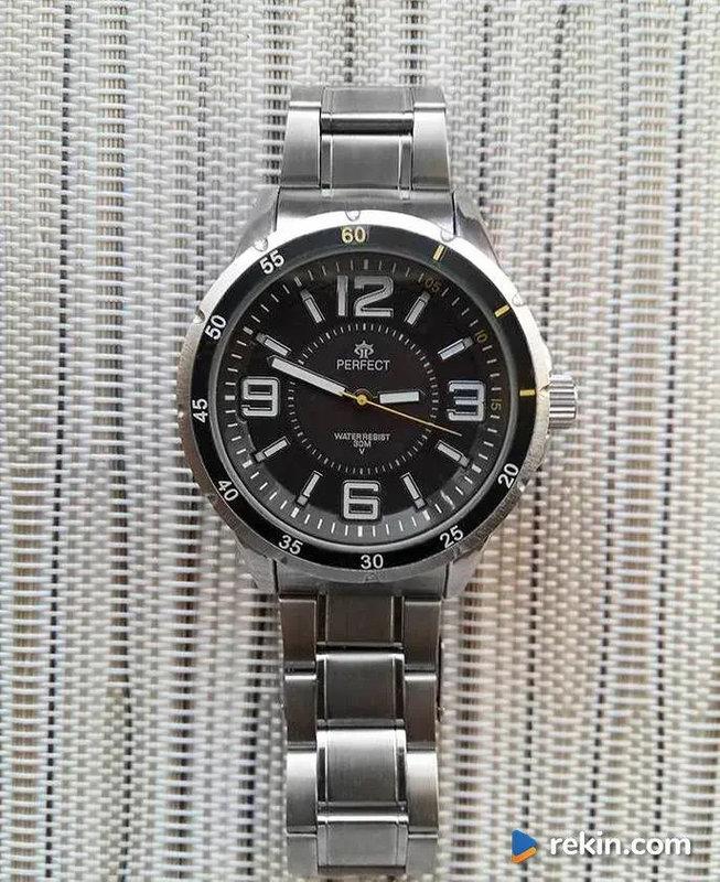 Zegarek męski Perfect, na bransolecie, nowy, gwarancja