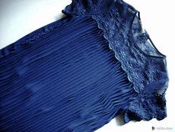 Elegancka Sukienka na Okazje Plisowana 42 XL Piękna