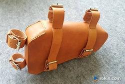 Skórzana torba rowerowa skóra naturalna woskowana