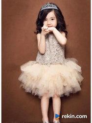 Koronkowa Sukienka TuTu Urodziny Wesele 92,98,104,110,116