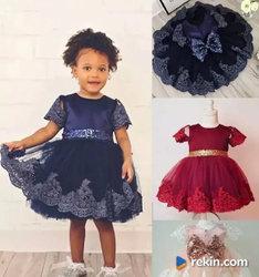 ŚLICZNA Sukienka Wesele Urodziny 62 68 74 80 86 92 98 104