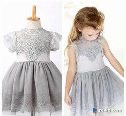 Śliczna Koronkowa Sukienka Urodziny Wesele 86,92,98,104,110