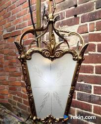 *Mosiężna, dekoracyjna lampa wisząca, latarnia* transport