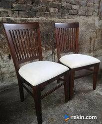 *Eleganckie krzesła kolonialne, krzesło, 2 szt.* transport