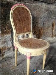 *Francuskie, pałacowe krzesło do toaletki* transport