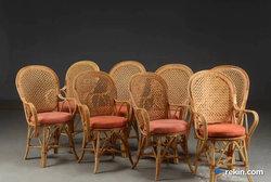*Komplet rattanowych krzeseł z poduszkami,4 sztuki*transport