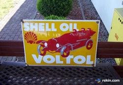 Shell Oil Voltol reklama szyld blacha emaliowana