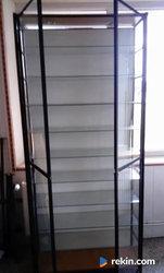 Witryna - regał - sklepowa szklana 226 x 34,5 x 100