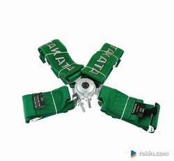 "Pasy sportowe 4p 3"" Green - Takata Rep. harness Kółko Drift"